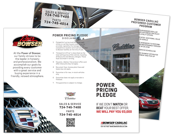 Bowser Cadillac Power Pricing Pledge Brochure