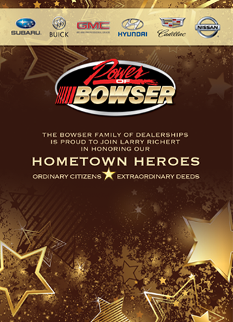 Bowser 2016 Hometown Heroes Event Program Ad