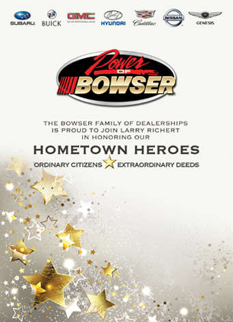 Bowser 2017 Hometown Heroes Event Program Ad