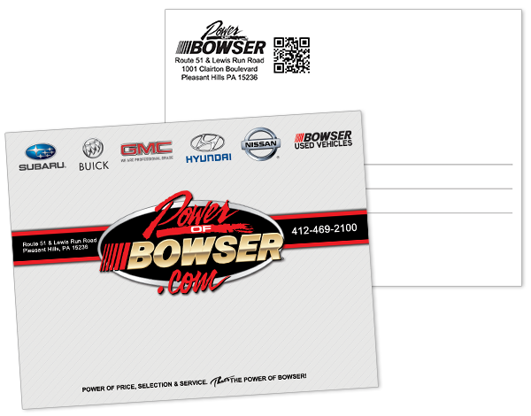 Bowser Automotive Postcard