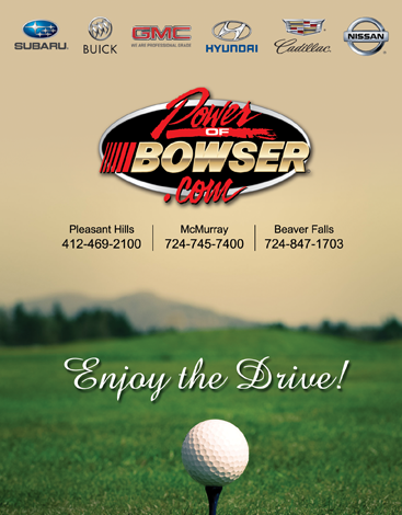 Bowser Ad for Golf Outing Event Program
