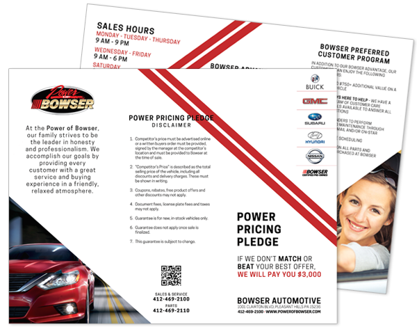 Bowser Power Pricing Pledge Brochure