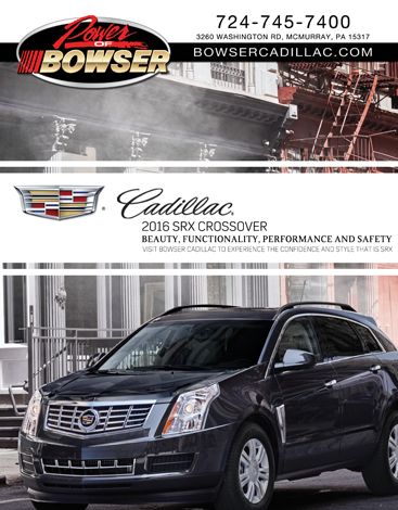Bowser Cadillac Ad for Southpointe Magazine