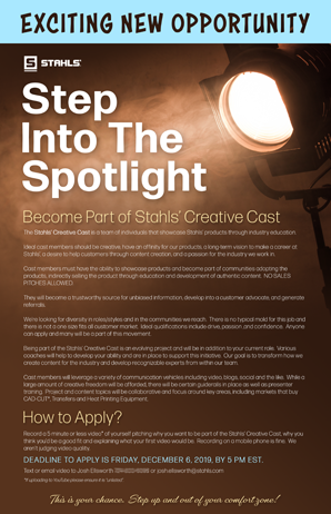 Stahls' Creative Cast Flyer