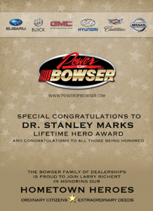 Bowser 2015 Hometown Heroes Event Program Ad