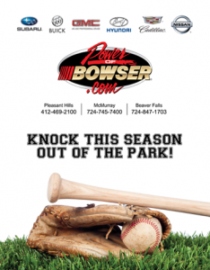 Bowser Ad for Baseball Media Guide