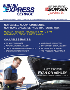 Express Service Flyer