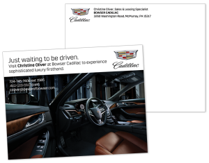 Bowser Cadillac New Salesperson Postcard
