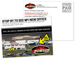 Bowser Office Relocation Postcard