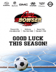Bowser Ad for Soccer Media Guide