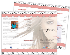 Creations In Hair Brochure